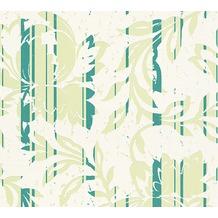 AS Création florale Mustertapete New Look Vliestapete creme grün 10,05 m x 0,53 m
