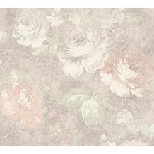 AS Création florale Mustertapete Secret Garden Tapete braun creme rot 10,05 m x 0,53 m