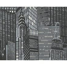 AS Création Leuchttapete Day & Night glow in the dark Vliestapete grau schwarz 10,05 m x 0,53 m