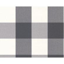 AS Création Mustertapete Black & White 3, Vliestapete, grün, weiß 10,05 m x 0,53 m