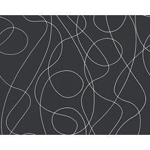 as cr ation tapete in der farbe schwarz. Black Bedroom Furniture Sets. Home Design Ideas