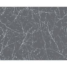 AS Création Mustertapete Elegance 3, Vliestapete, grau 10,05 m x 0,53 m