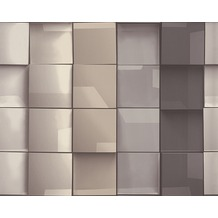 AS Création Mustertapete in 3D-Optik Move your Wall, Tapete, beige, braun, grau