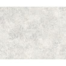 AS Création Mustertapete in Vintage-Putzoptik Decoworld, Tapete, signalgrau, reinweiß 10,05 m x 0,53 m