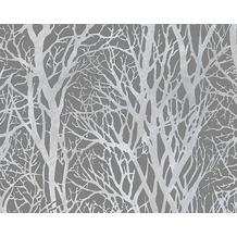 AS Création Mustertapete Life 3, Vliestapete, grau, metallic 10,05 m x 0,53 m