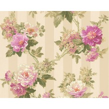 AS Création Mustertapete Romantica 3 Tapete creme grau lila 10,05 m x 0,53 m
