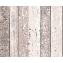 AS Création Mustertapete, Surfing & Sailing, Tapete, Holzoptik, braun, creme 10,05 m x 0,53 m