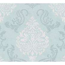 AS Création neobarocke Mustertapete Memory 3 Vliestapete blau metallic weiß 10,05 m x 0,53 m
