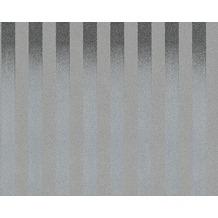 AS Création Streifentapete Black & White 3, Strukturprofiltapete, silber grau 10,05 m x 0,53 m