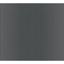 AS Création Streifentapete Reflection Vliestapete Tapete grau metallic schwarz 10,05 m x 0,53 m
