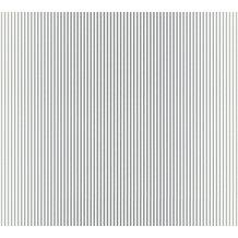 AS Création Streifentapete Reflection Vliestapete Tapete grau metallic weiß 10,05 m x 0,53 m