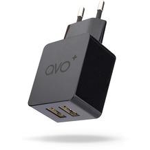 AVO+ Reise-Ladegerät 2xUSB 3,4A EU schwarz