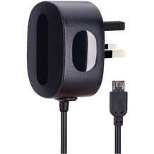 AVO+ Reise-Ladegerät mit Micro-USB-Kabel UK schwarz
