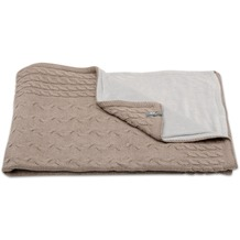 Baby's Only Babydecke Zopf Nickistoff Taupe