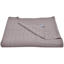 Baby's Only Babydecke Zopf Uni Taupe