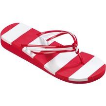 BECO V-Strap-Slipper, rot/weiß 36