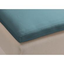 Beddinghouse Jersey Split-Topper-Spannbettlaken, blau grau 160x200/210