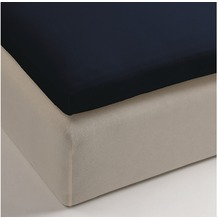 Beddinghouse Jersey Split- Topper - Spannbettlaken, navy 160x200/210
