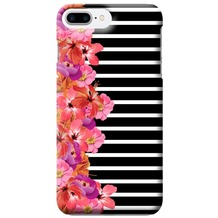 Benjamins Silikon Cover - Apple iPhone 7 Plus - Flower - Schwarz