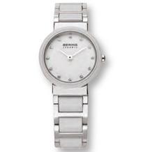 BERING 10725-754  Damenuhr CERAMIC Weiß, Silber