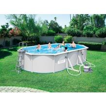 Bestway Hydrium™ Stahlwand Pool Set, oval 610x360x120cm mit Sandfilter