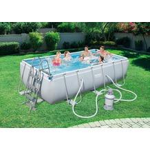 Bestway Power Steel™ Rectangular Frame Pool Set 404x201x100cm mit Sandfilter
