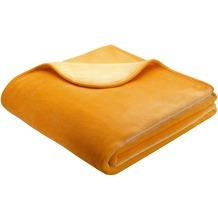 Biederlack Wohndecke De Luxe gelb 150x200 cm