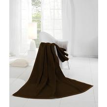 Biederlack Wohndecke Orion Cotton dunkelbraun 150x200 cm