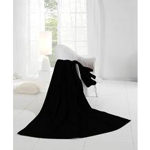 Biederlack Wohndecke Orion Cotton schwarz 150x200 cm