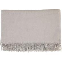 Biederlack Wohndecke   Cotton Cover grau 100x200 cm
