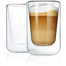blomus Set 2 Cappuccino-Gläser NERO