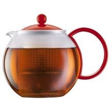 Bodum ASSAM Teebereiter mit Kunststoffsieb und Kunststoffdeckel 1,0 l rot