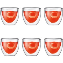 Bodum PAVINA Glas doppelwandig 0.08L - 6er Set