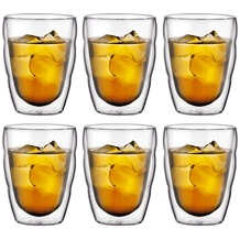 Bodum PILATUS 6 Stück Glas, doppelwandig, 0.25 l transparent