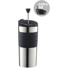 Bodum TRAVEL PRESS SET Kaffeebereiter mit extra Trinkaufsatz 0,35 l schwarz