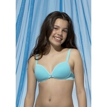 Boobs&Bloomers Padded bra without wire in cotton turquoise 65A