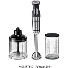 Bosch MSM87140 Stabmixer-Set schwarz / Edelstahl gebürstet