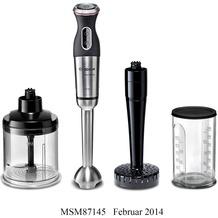 Bosch MSM87145 Stabmixer-Set schwarz / Edelstahl gebürstet
