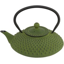 Bredemeijer asiatische Teekanne Gusseisen Jing 1,25 ltr. grüne Noppenstruktur