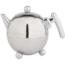 Bredemeijer doppelwandige Teekanne Duet® Bella Ronde Edelstahl glänzend verchromte Beschläge 1,5 ltr.