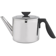 Bredemeijer doppelwandige Teekanne Duet® Cylindre Edelstahl glänzend, schwarze Beschläge 1,1 ltr.