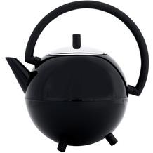 Bredemeijer doppelwandige Teekanne Duet® Saturn schwarz glänzend, schwarze Beschläge 1.2 ltr.