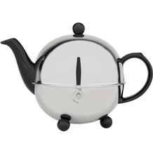 Bredemeijer Steingut-Teekanne Cosy® schwarz mit filzisoliertem Edelstahlmantel 0,9 ltr.