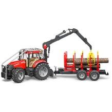 Bruder Case IH PUMA 230 CVX Forsttraktor+Anhänger