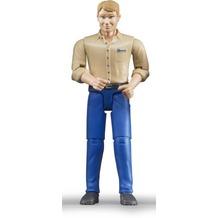Bruder Mann mit hellem Hauttyp/blauer Hose