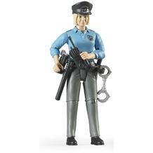 Bruder Polizistin mit hellem Hauttyp und Zub.