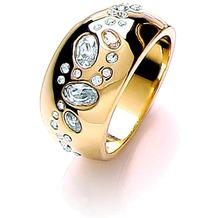 Buckley London Ring vergoldet mit Kristallen gelb 52 (16,6)