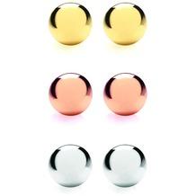 Buckley London Set 3 Paar vergoldet/rhodiniert mehrfarbig