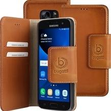 Bugatti BookCover Amsterdam für Samsung Galaxy S7, Sand