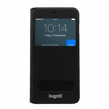 Bugatti BookCover Lausanne für Apple iPhone 6 Plus, Schwarz
